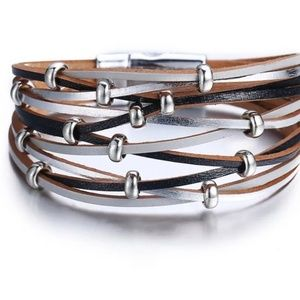 NWT *2 for $25* Faux leather bracelet